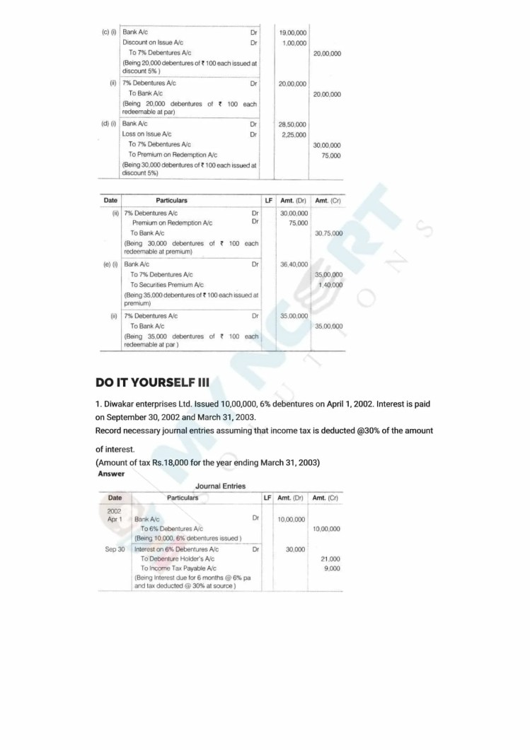 ncert solutions class 12 accountancy part 2 chapter 2 issue and redemption of debentures 03