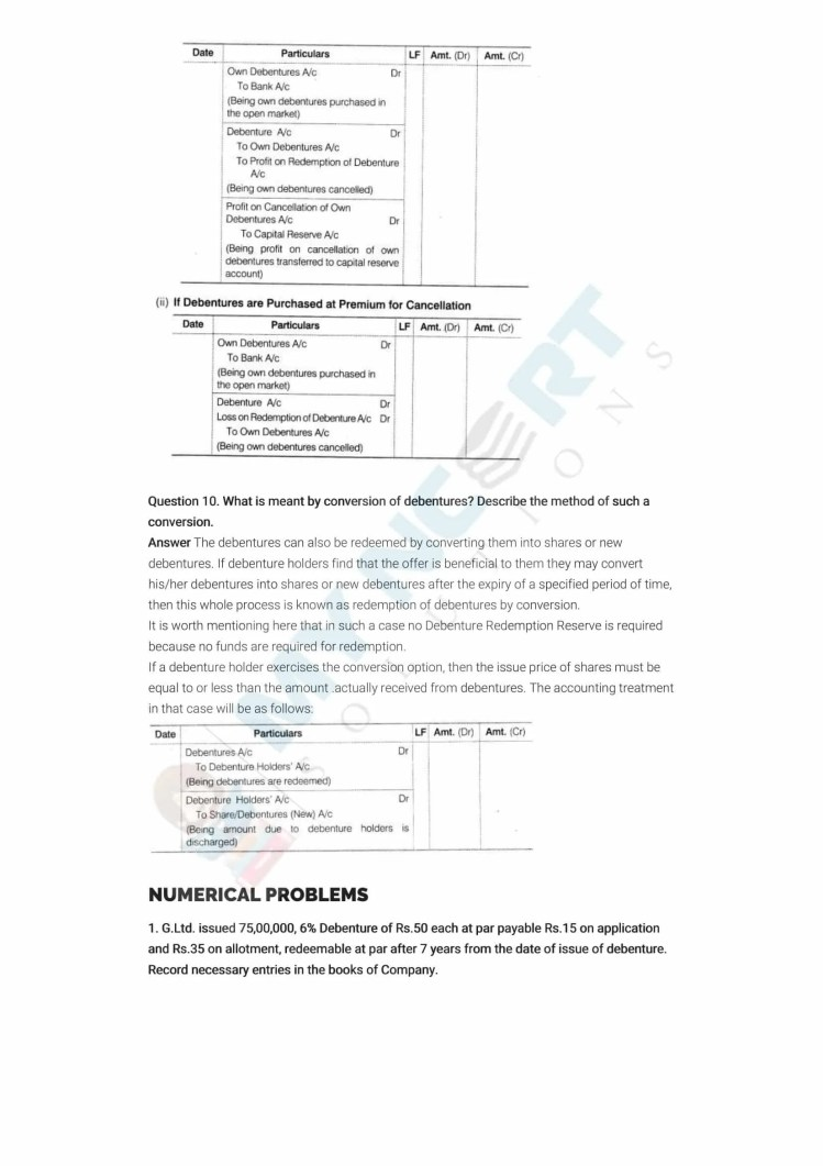 ncert solutions class 12 accountancy part 2 chapter 2 issue and redemption of debentures 28