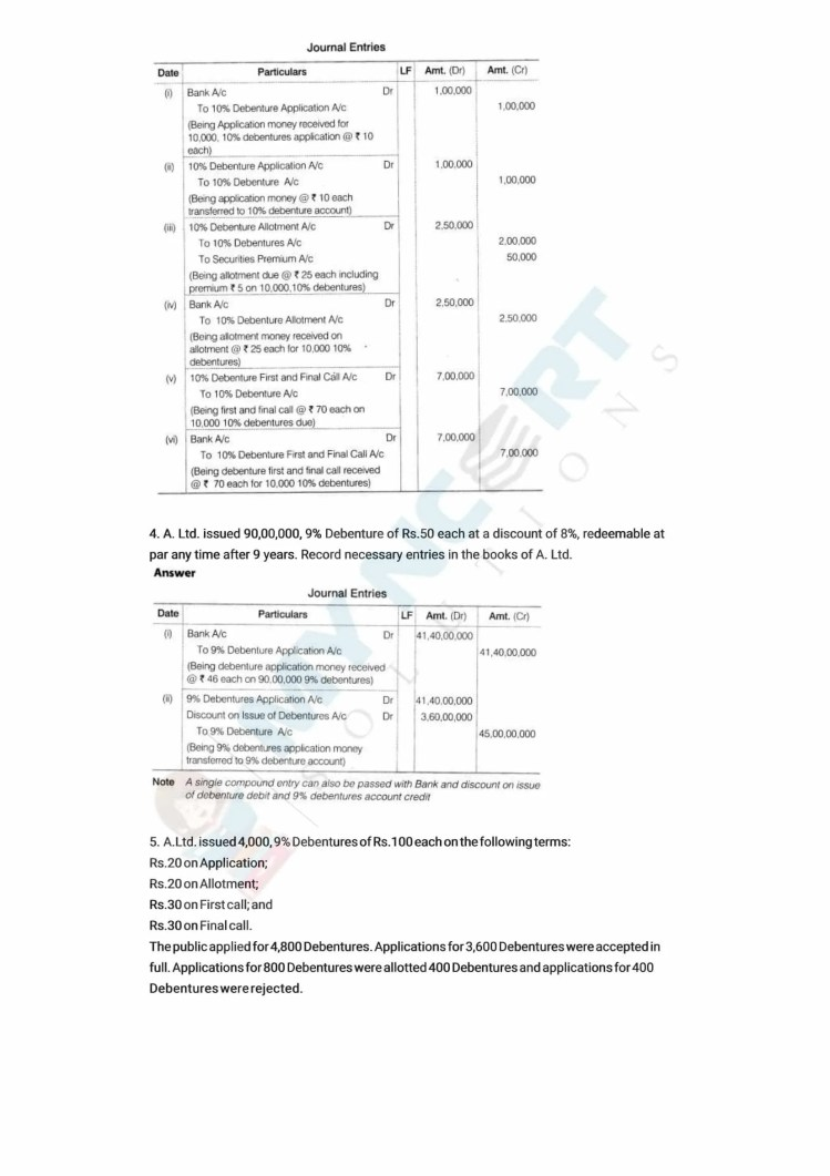 ncert solutions class 12 accountancy part 2 chapter 2 issue and redemption of debentures 30
