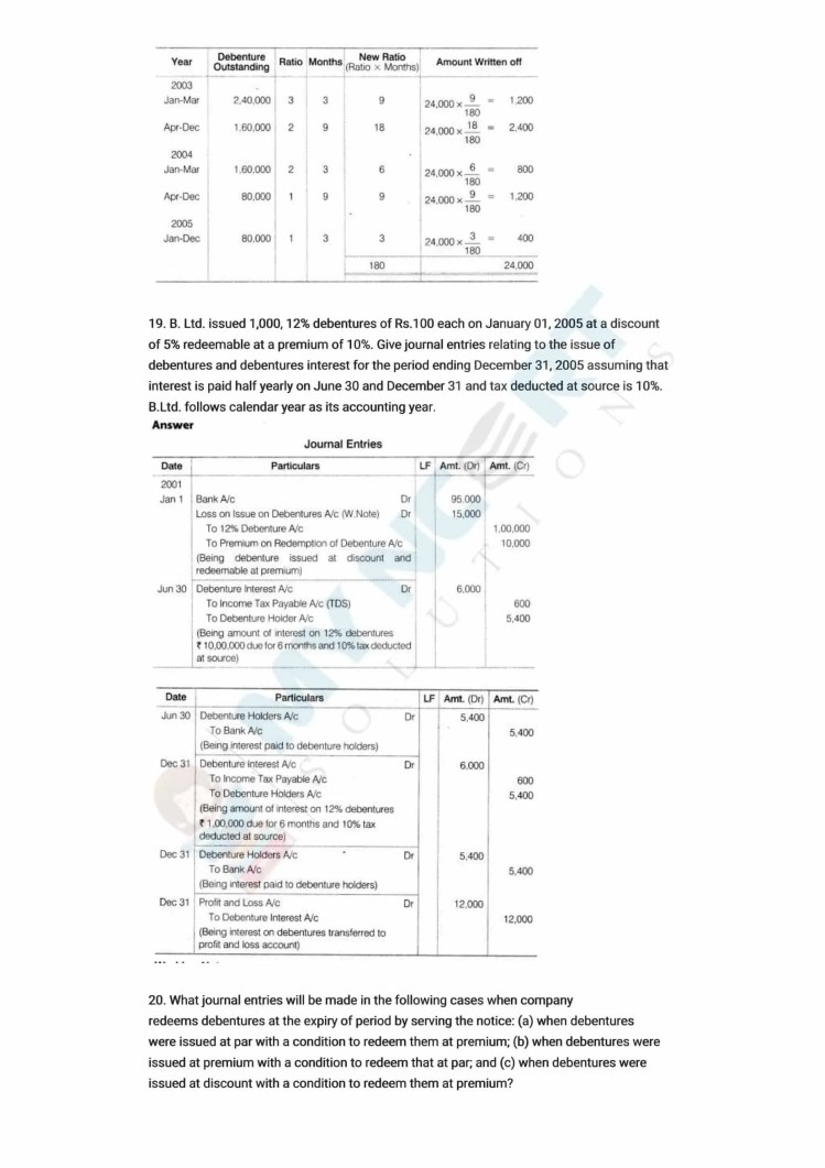 ncert solutions class 12 accountancy part 2 chapter 2 issue and redemption of debentures 43