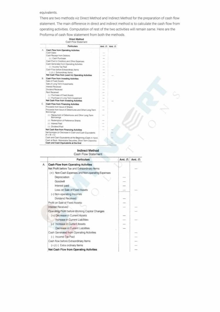 ncert solutions class 12 accountancy part 2 chapter 6 cash flow statement 09