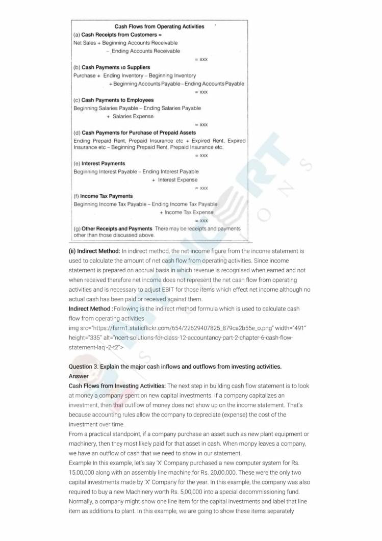 ncert solutions class 12 accountancy part 2 chapter 6 cash flow statement 11