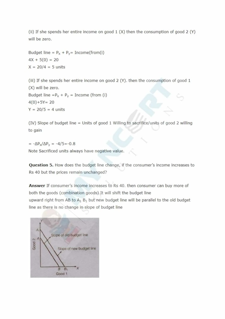 ncert solutions class 12 micro economics chapter 2 theory of consumer behaviour 2