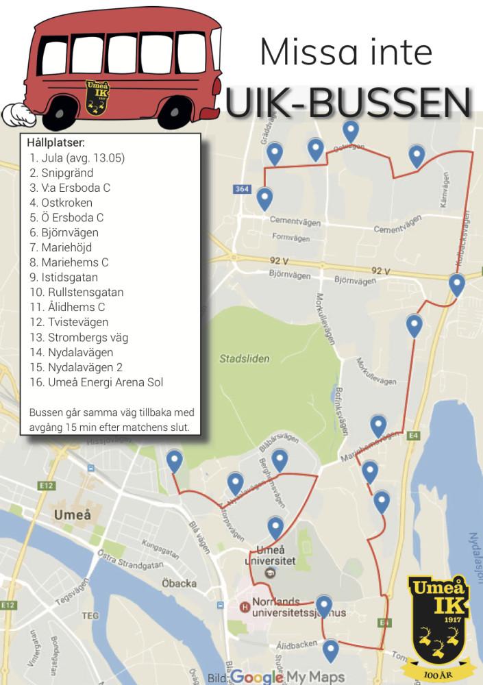 Klicka på kartan för mer information om busstider och hållplatser.
