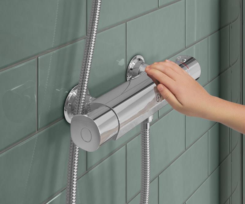 Atlantic-suihku- ja kylpyammehanoissa on safe touch-toiminto, joka minimoi hanan etuosan lämpenemisen.