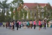 aerobic à phnom penh au cambodge par les cambodgiennes