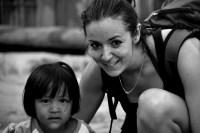 Rencontre avec enfant lors d 'un trek a chiang mai