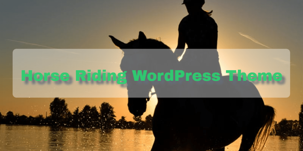 Horse Riding WordPress Theme