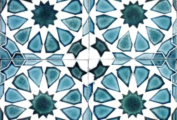ceramic tiles with geometric pattern obby