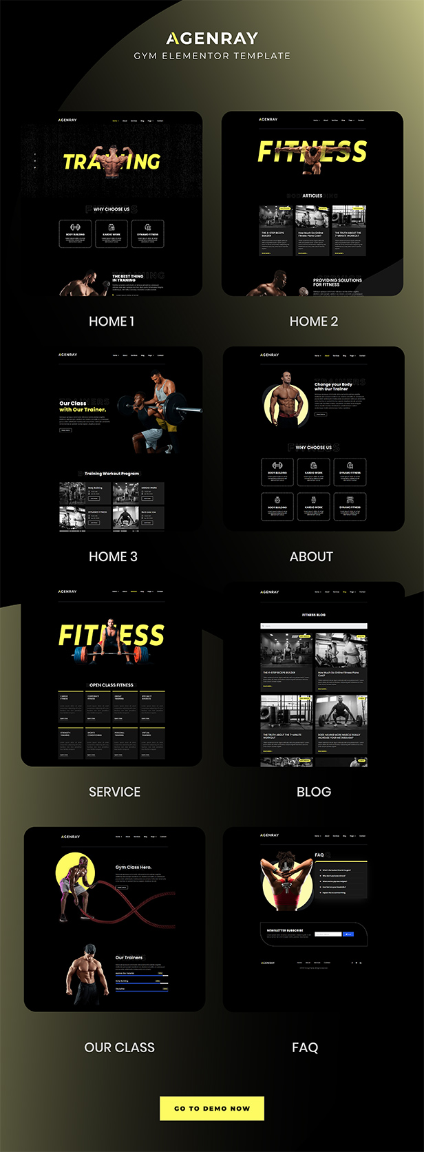 agenray gym template