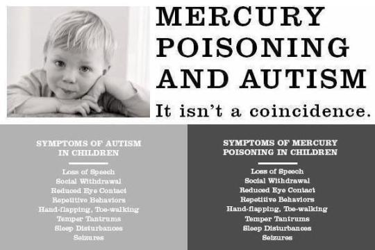 Mercury Poisoning and Autism: It isn't a coincidence