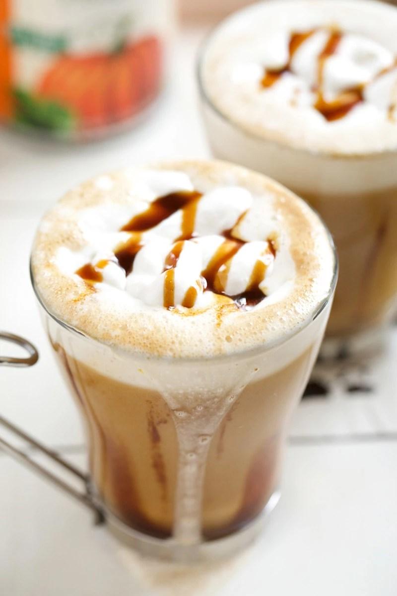 Salted Caramel Pumpkin Chai Latte