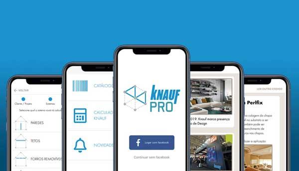 Aplicativo Knauf PRO para projetos de drywall