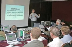 Dennis van Booma shows us how at the PROFIBUS Workshop
