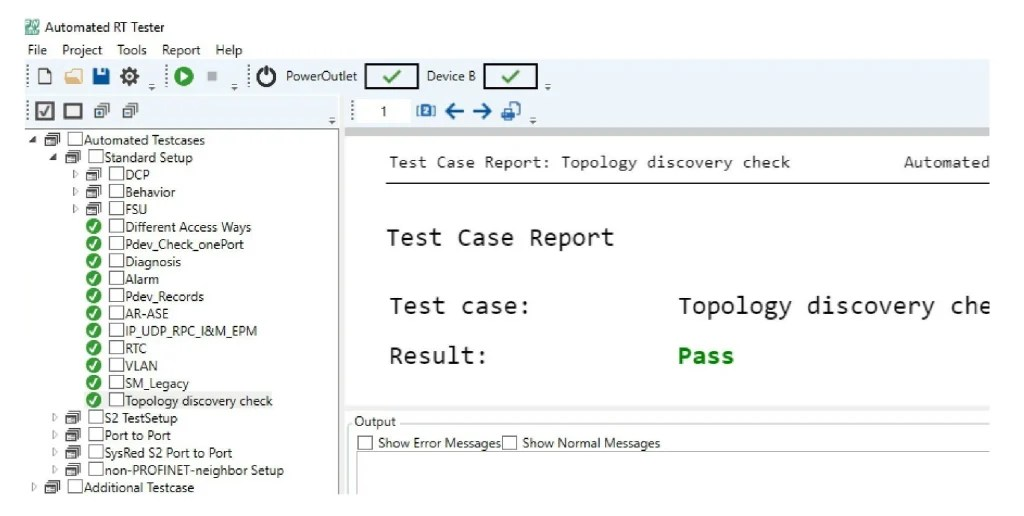 An error-free test result is the successful conclusion to developing a device