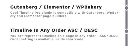Timeline Page Builder Support