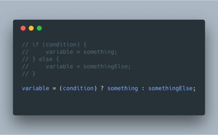 What do you think about the ternary operator? - DEV Community