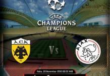 Prediksi Skor Liga Champions AEK Athens vs Ajax