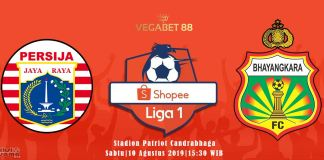 Prediksi Persija Jakarta vs Bhayangkara FC - 10 Agustus 2019