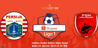 Prediksi Persija Jakarta vs PSM Makassar - Liga 1, 28 Agustus 2019