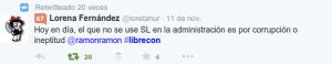 tuit lorena 300x58 Balance de #LibreCon 2014: encuentro referente internacional del Software Libre