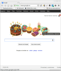 Felicitación Google