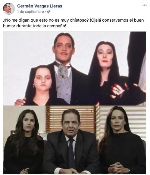 Facebook Germán Vargas Lleras