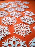make paper snowflakes craft