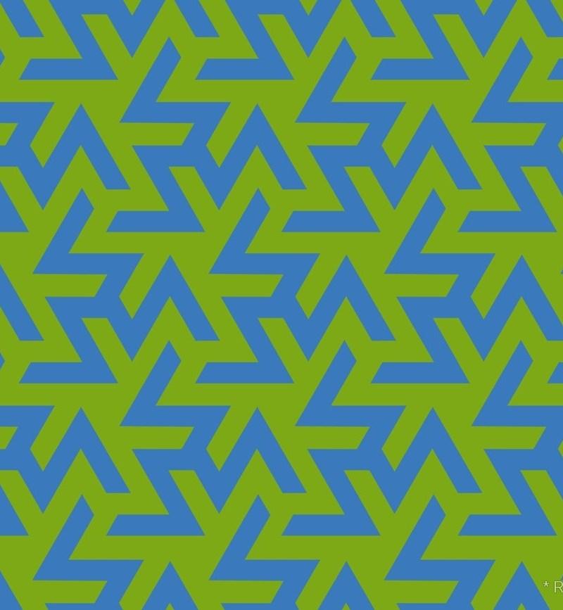 Geometric Pattern: Triskelion / Red Wolf
