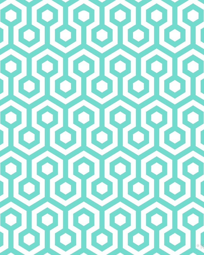 Geometric Pattern: Looped Hexagons / Red Wolf