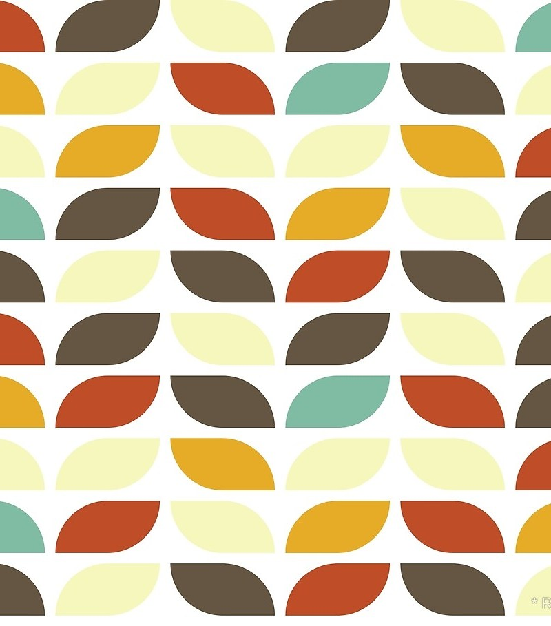 Geometric Pattern: Leaf: Spring + Fall / Red Wolf