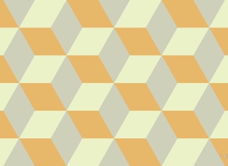 Geometric Pattern: 3D Cube / Red Wolf