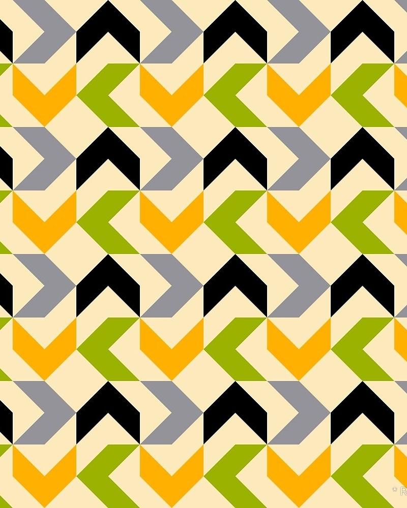Geometric Pattern: Chevron / Red Wolf