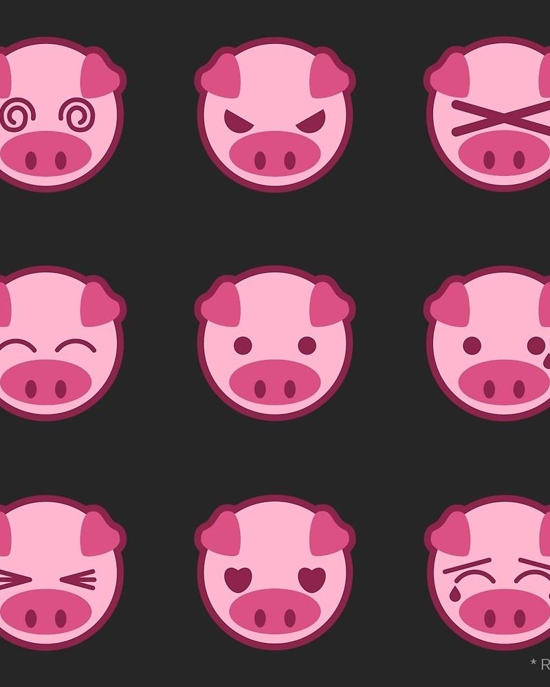 Pig Emoji / Red Wolf