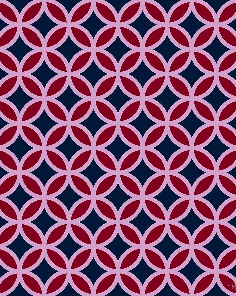 Geometric Pattern: Circle / Red Wolf