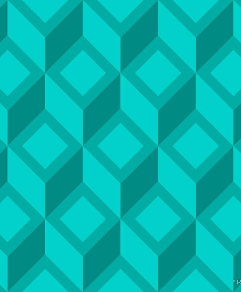 Geometric Pattern: Diamond Chevron / Red Wolf