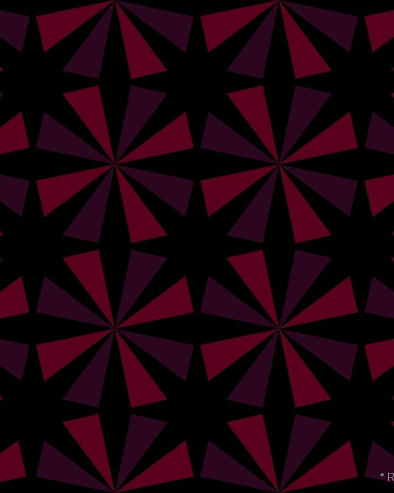 Geometric Pattern: Star / Red Wolf