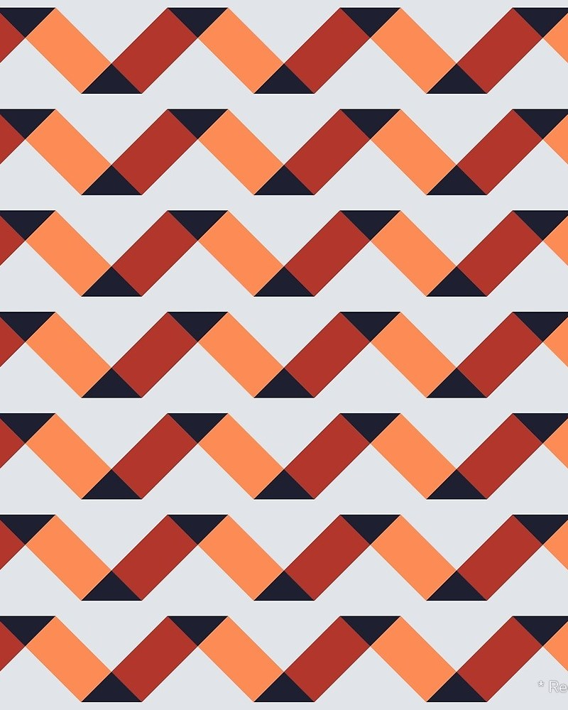 Geometric Pattern: Spiral / Red Wolf