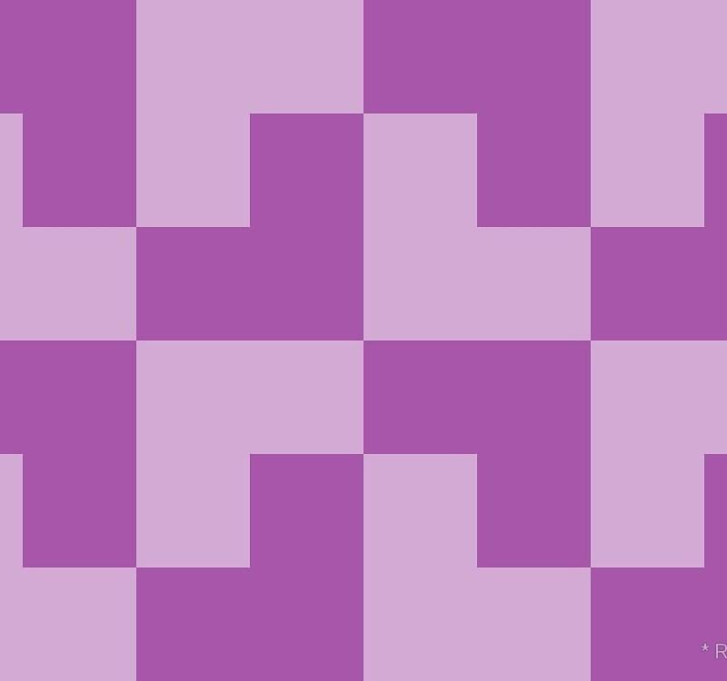 Geometric Pattern: Tetris Ell: Light / Red Wolf