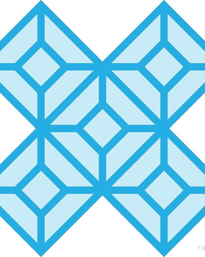 Geometric Pattern: Diamond Tile: Light / Red Wolf