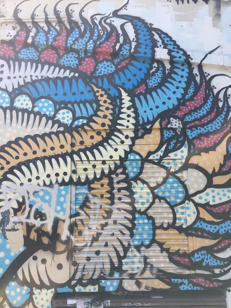 Mushrooms + Spider + Graffiti + Moth / Red Wolf