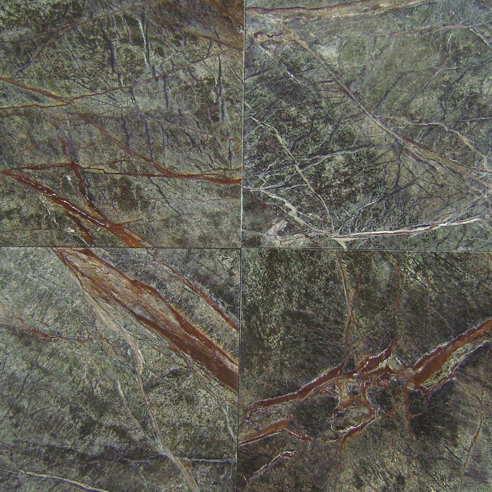 rain forest green marble from top