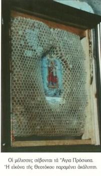 Icoana inconjurata de faguri de miere