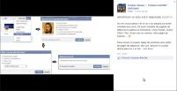 Cristian Tănase invitând lumea sa raporteze pagina lui Isus (cel ateu) de pe Facebook