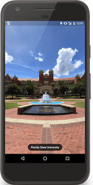 Panoramic views of campus via Street View thumbnail