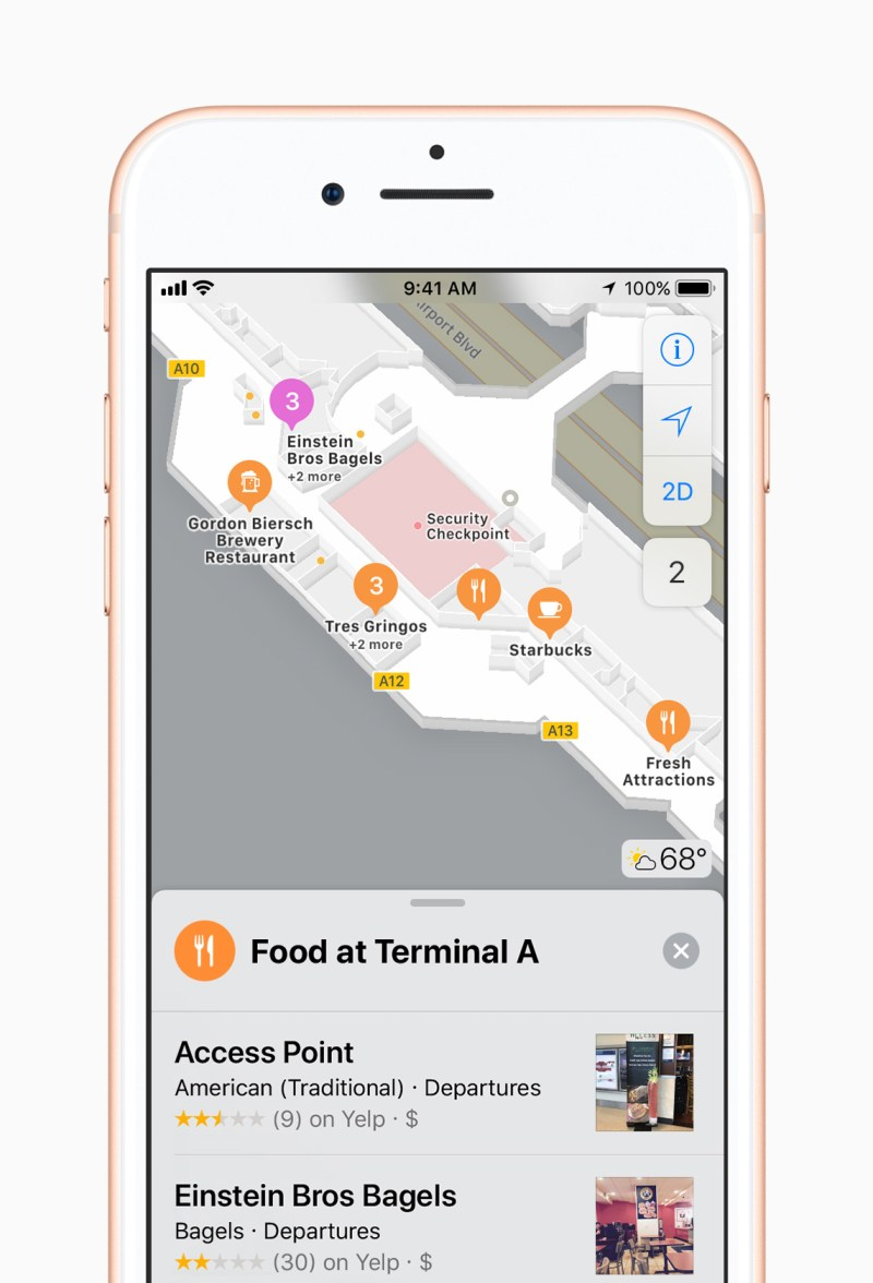 iOS 11 Apple Maps - indoor maps, lane guideance, speed milits