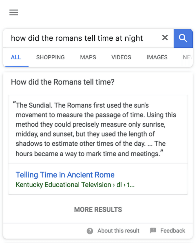 near-matches featured snippets in google search