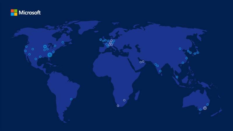 Microsoft Azure World Map