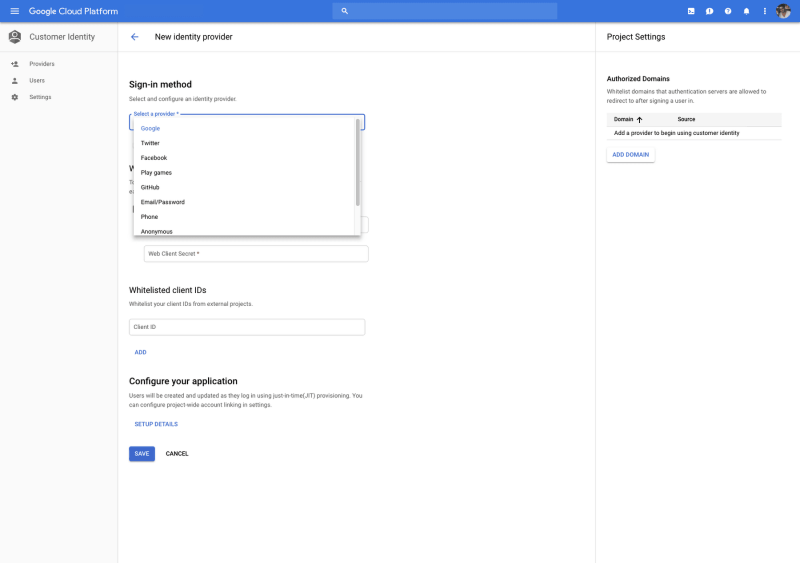 Google Cloud Identity for Customers and Partners (CICP),
