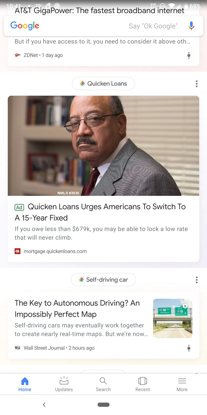 Google Discover (Google Feed) Ad
